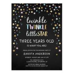 Twinkle Little Star 3 Years Old Is What You Are! Postcard