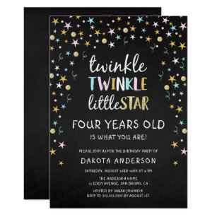 4 Year Old Birthday Invitations