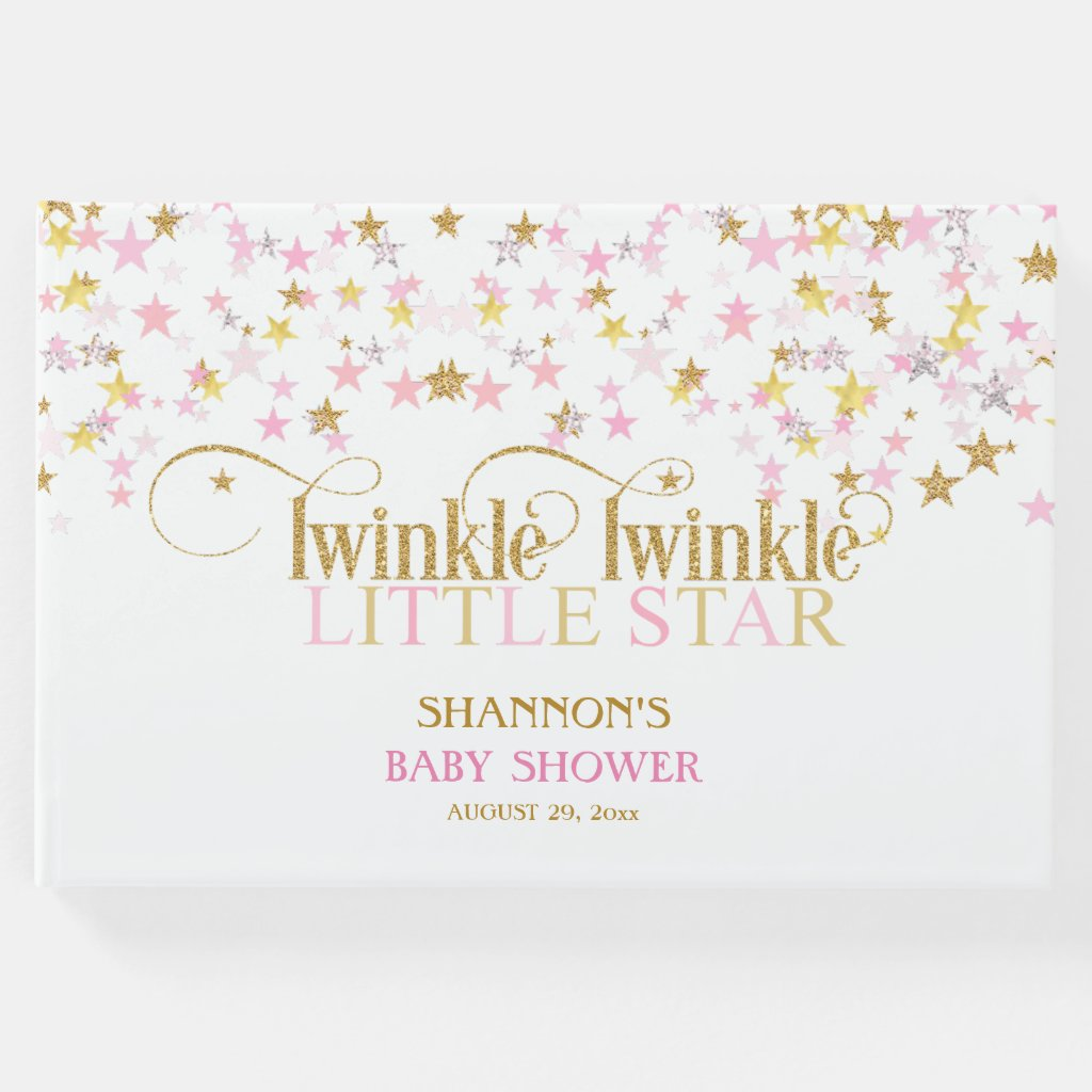 Twinkle Little Star Baby Gold Pink Girl