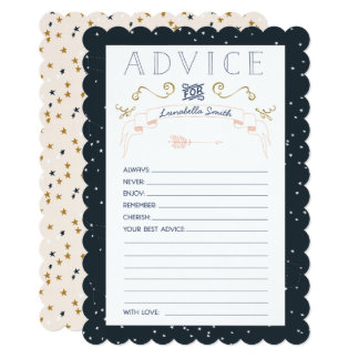 Twinkle Little Star Baby Shower Advice Cards