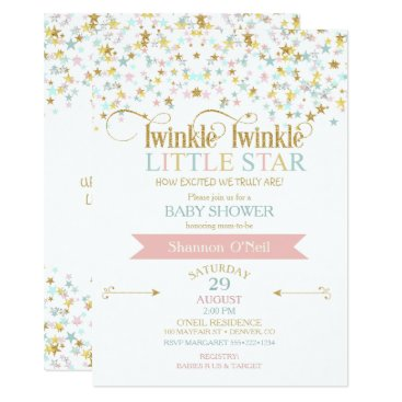 Toddler & Baby themed Twinkle Little Star Baby Shower Any Color Card