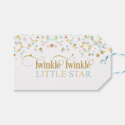 Twinkle Little Star Baby Shower Any Color Gift Tags