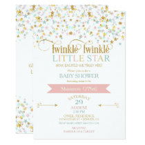 Twinkle Little Star Baby Shower Any Color Invitation