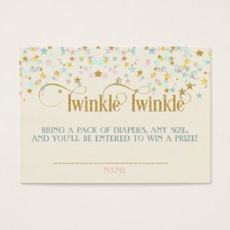 Twinkle Little Star Baby Shower Diaper Raffle