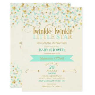 Twinkle Little Star Invitations Announcements Zazzle, Baby Shower  Invitations