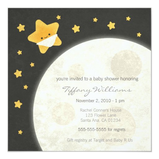 Twinkle Twinkle Little Star Baby Shower Invitations for adorable invitations ideas