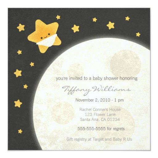 twinkle little star baby shower invitation zazzle