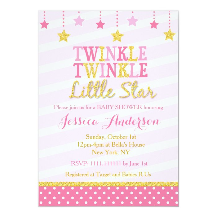 twinkle little star baby shower invitations zazzle