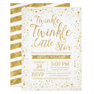 Twinkle Little Star Baby Shower Invitations