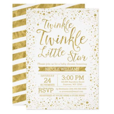 Toddler & Baby themed Twinkle Little Star Baby Shower Invitations
