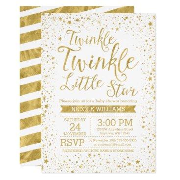 printcreekstudio Twinkle Little Star Baby Shower Invitations