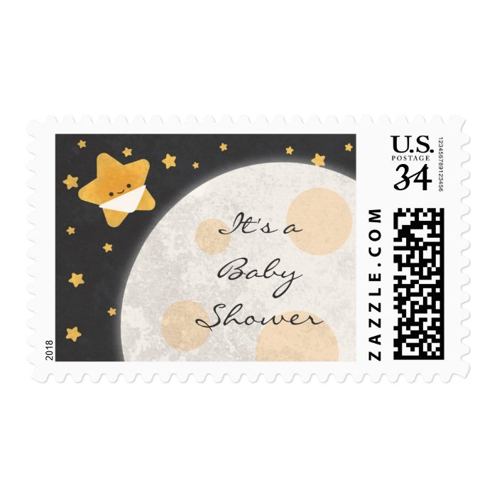 twinkle little star baby shower postage stamps zazzle