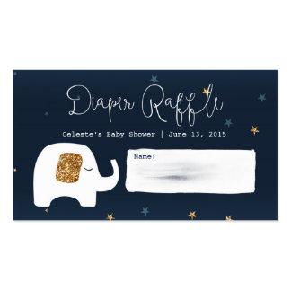 Twinkle Little Star Baby Shower Raffle Tickets Business Card