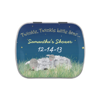 Twinkle Little Star Baby Shower Thank You Favor Candy Tins