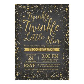 Twinkle Little Star Chalkboard Baby Shower Invites