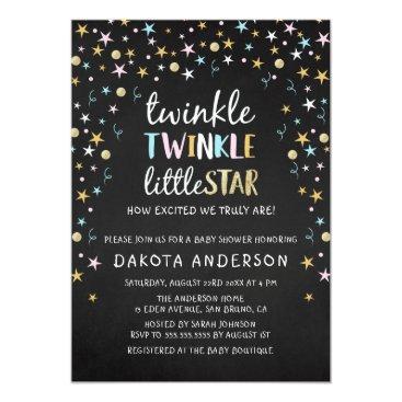 Titan_Studios Twinkle Little Star Confetti & Chalk Baby Shower Card