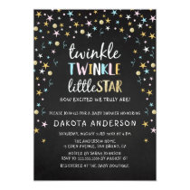 Twinkle Little Star Confetti & Chalk Baby Shower Invitation