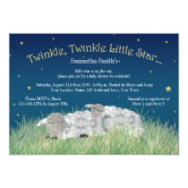 Twinkle Little Star Cute Sheep Baby Shower Invitation