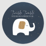 Twinkle Little Star Elephant Baby Shower Stickers