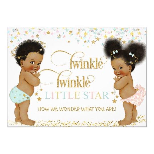 Twinkle Little Star Ethnic Baby Gender Neutral Invitation ...