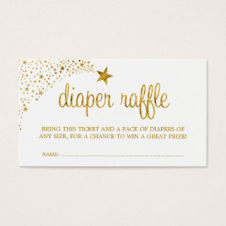 Twinkle Little Star Faux Gold Diaper Raffle Ticket