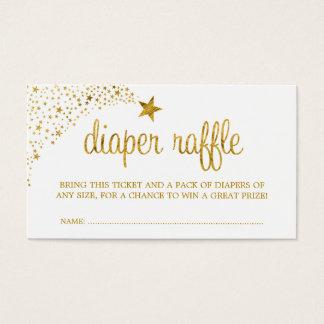 Twinkle Little Star Faux Gold Diaper Raffle Ticket