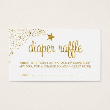Toddler & Baby themed Twinkle Little Star Faux Gold Diaper Raffle Ticket