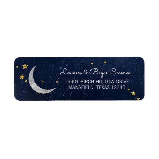 Twinkle Little Star Galaxy & Moon Return Address Label