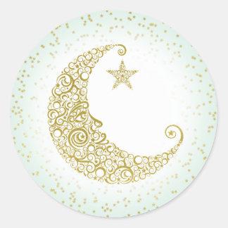 Twinkle Little Star Gold Moon Sticker Mint