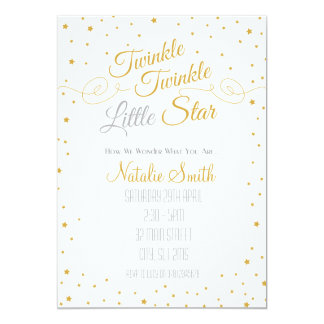 Twinkle Little Star How We Wonder Baby Invite