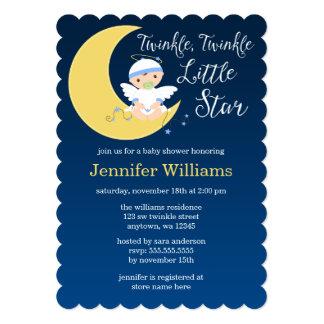 Twinkle Little Star Moon Baby Shower Card