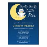 Twinkle Little Star Moon Baby Shower Invitation