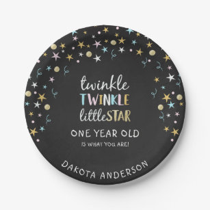 Twinkle Little Star One Year Old Is What You Are! Paper Plate