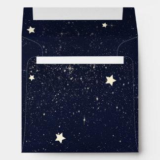 Twinkle Little Star Starry Sky Baby Shower Envelope
