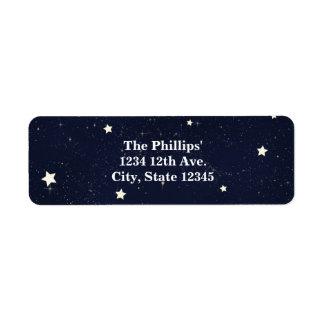 Twinkle Little Star Starry Sky Baby Shower Label