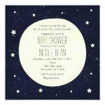 Twinkle Little Star Starry Sky & Moon Baby Shower Card