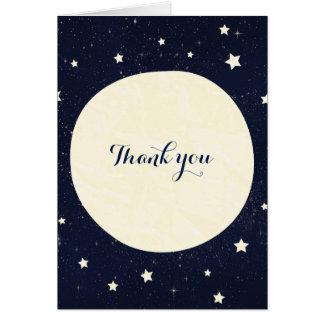 Twinkle Little Star Starry Sky & Moon Thank You Card