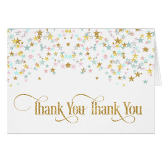 Twinkle Little Star Thank You Card White or Any