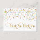 """Twinkle Little Star Thank You White or Any Color<br><div class=""""desc"""">Twinkle twinkle little star baby thank you note done in pink,  aqua &amp; gold on a white or color of your choice background.</div>"""