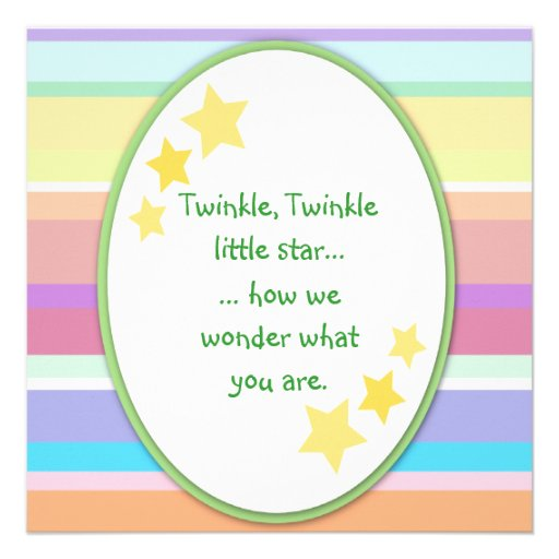 twinkle little star unisex baby shower invitations square