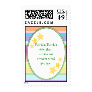 Twinkle Little Star Unisex Baby Shower Stamps