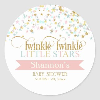 Twinkle Little Stars Twins Baby Shower Any Color