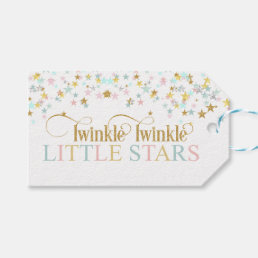 Twinkle Little Stars Twins Baby Shower Any Color Gift Tags