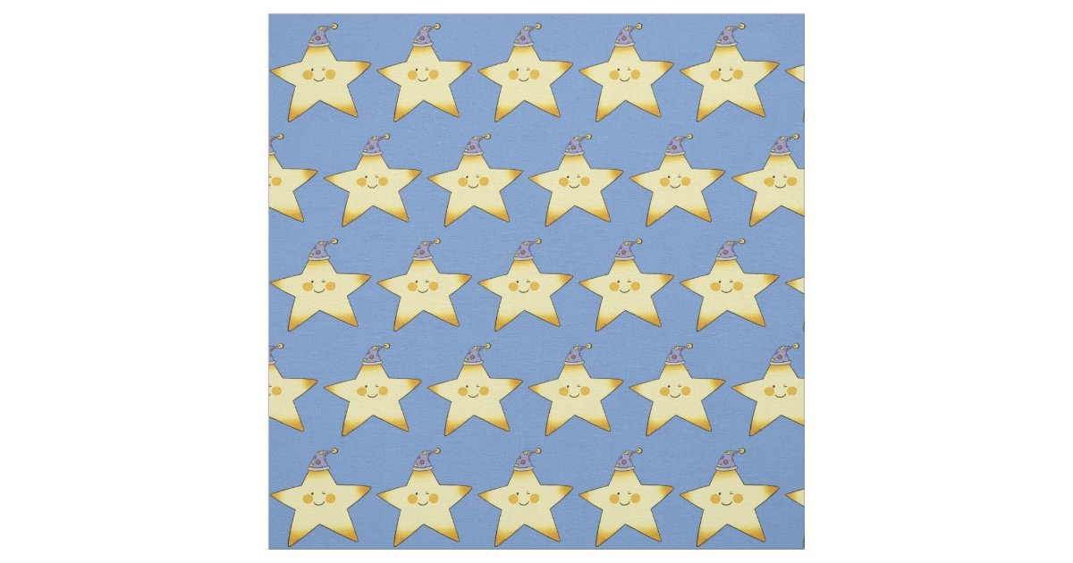 Twinkle little yellow baby star nursery fabric zazzle for Yellow baby fabric