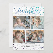 TWINKLE & Shine Starry Galaxy | Teal & Purple Holiday Card