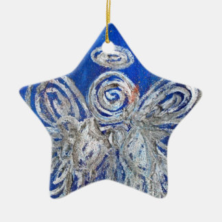 Twinkle Silver Angel Art Holiday Ornament Pendant