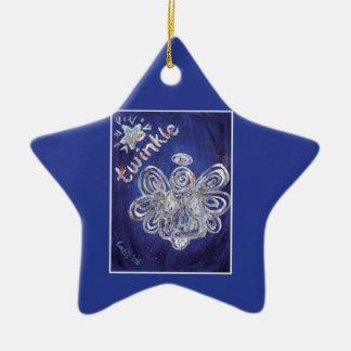 Twinkle Silver Angel Art Ornament Pendant