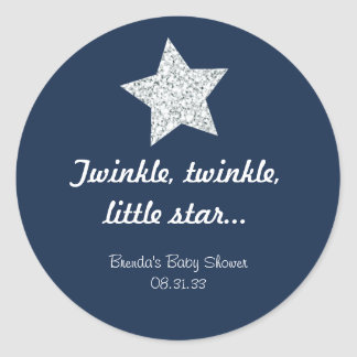 Twinkle Silver Star Sticker