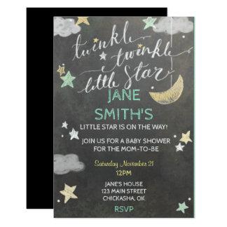 Twinkle Star Baby Shower Invite