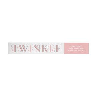 Twinkle Star Baby Shower Return Address Label